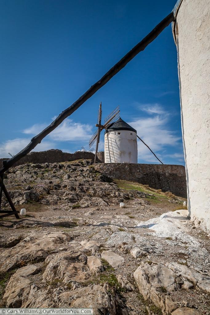 A pair of windmills, Consuegra, La Mancha, Spain