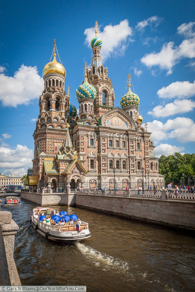 Church of the Savior on Spilled Blood Moyka River - St Petersburg - Russia