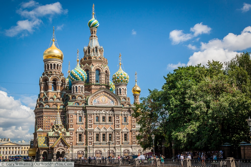 The Church of the Savior on Spilled Blood, St Petersburg, Russia