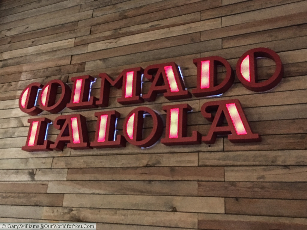 The logo of Colmado LaLola, a fine eatery in Valencia,Spain