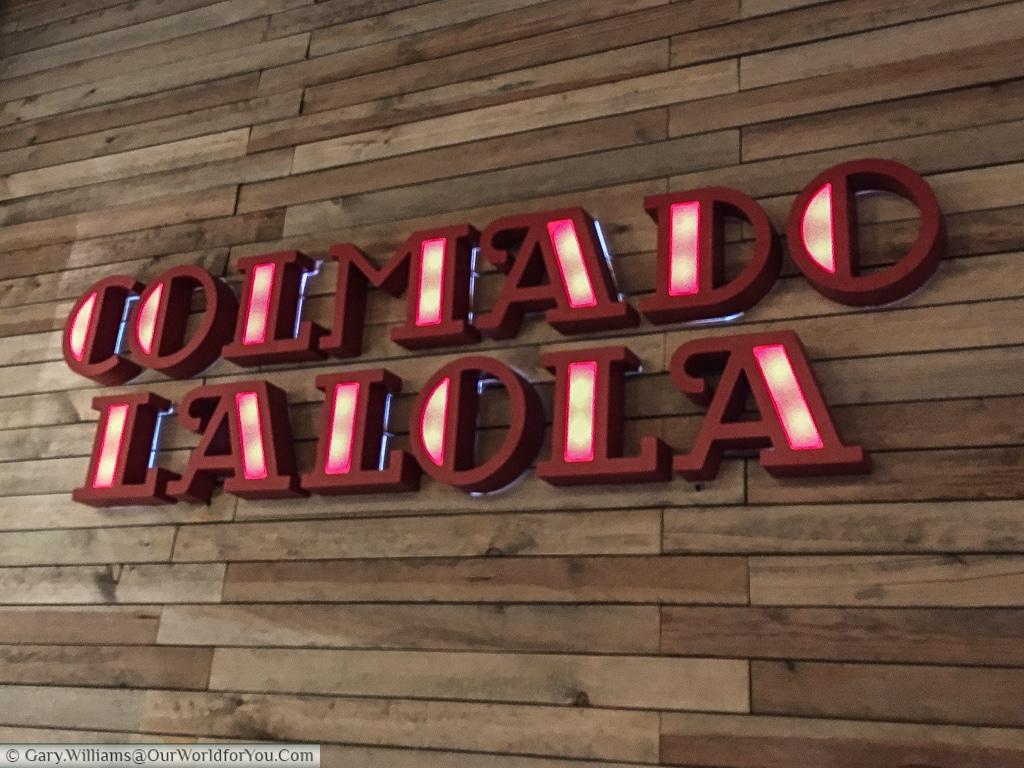 The logo of Colmado LaLola, a fine eatery in Valencia,Spain