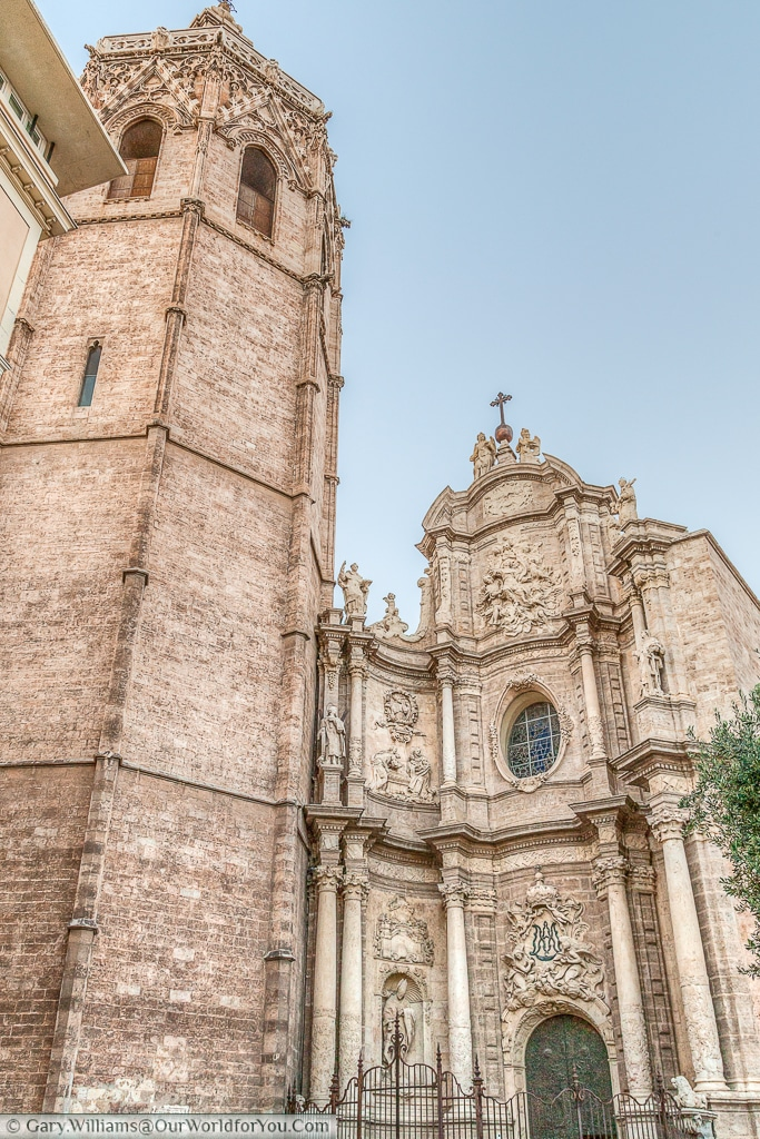 El Miguelete and the entrance to the Cathedral in Valencia, Spain