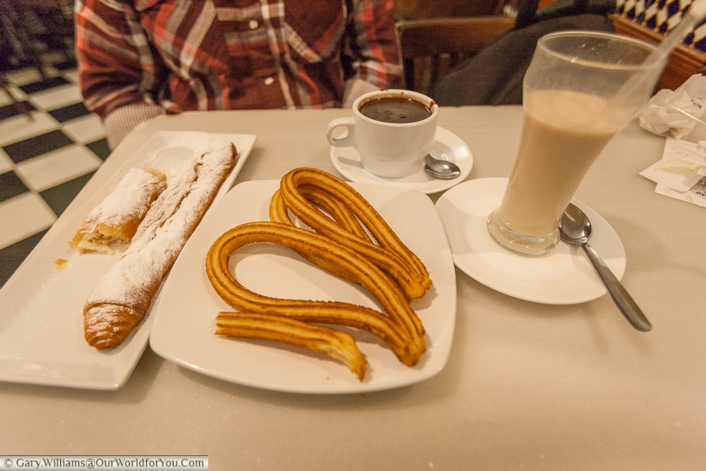 Fartons, churros and horchata for breakfast, Valencia, Spain