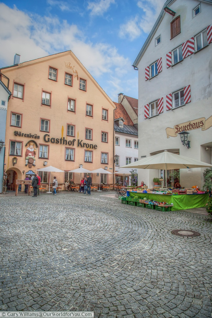 Gasthof Krone in the old town of Füssen, Bavaria, Germany