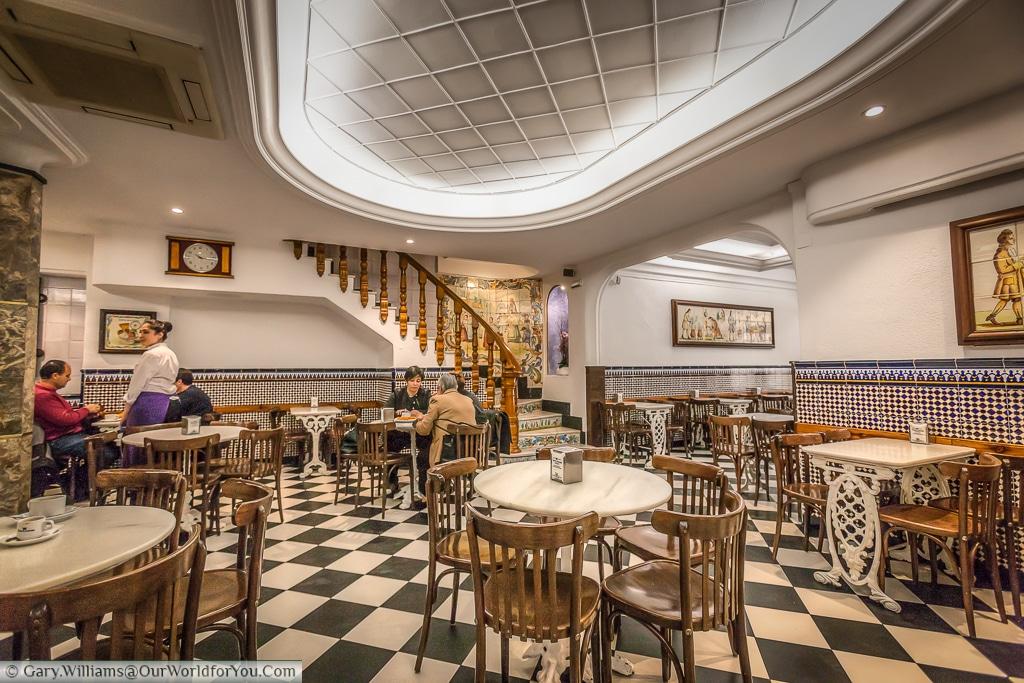 Inside the Horchateria de Santa Catalina, Valencia, Spain