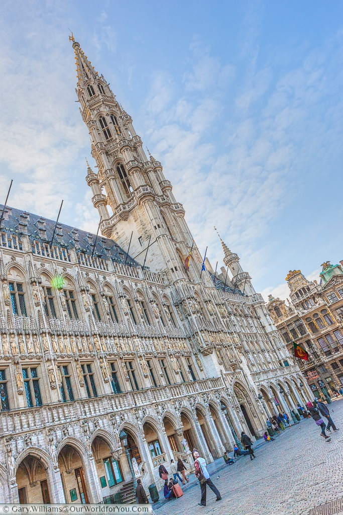 The Hotel de Ville in the Grand Place, Brussels, Belgium
