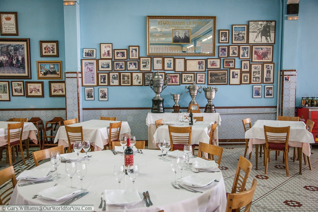 Inside La Pepica Which Is Very Proud Of All Its Awards Valencia Spain