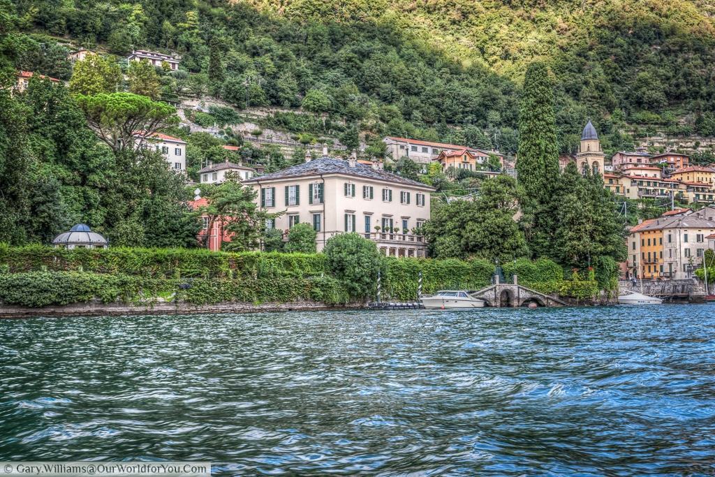 Mr Clooney's residence on Lake Como, Italy