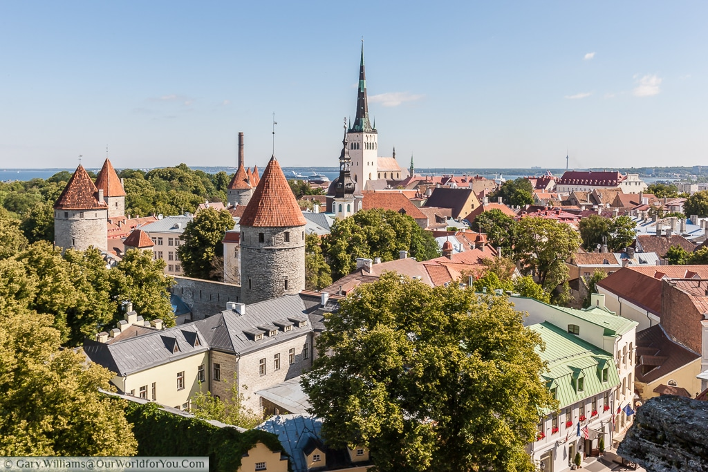 Patkuli viewing platform - one of the best views of Old Tallinn, Estonia