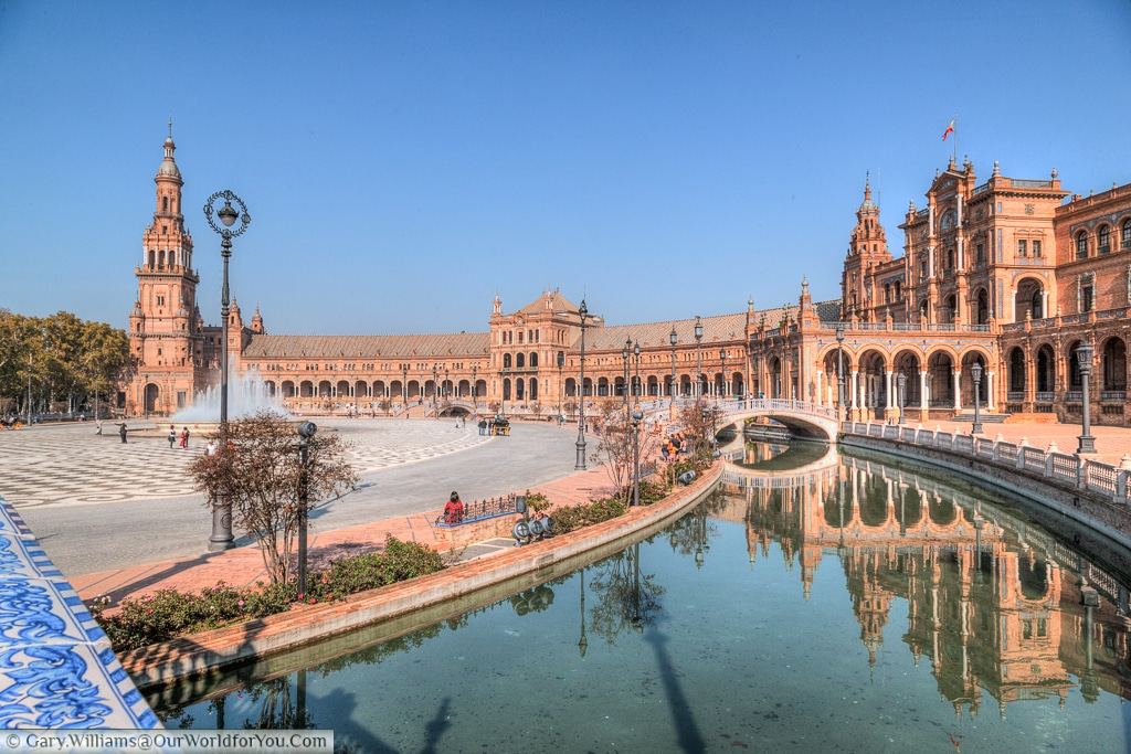 The magical Plaza de Espana, Seville, Spain