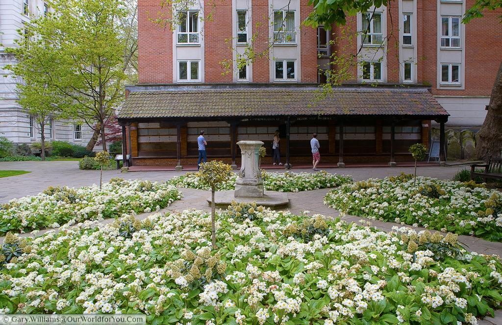 Within the Postman's park you will find the Watts's Memorial for Heroic Self-Sacrifice