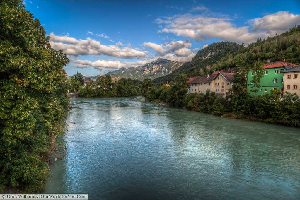 River Lech, Füssen, Bavaria, Germany
