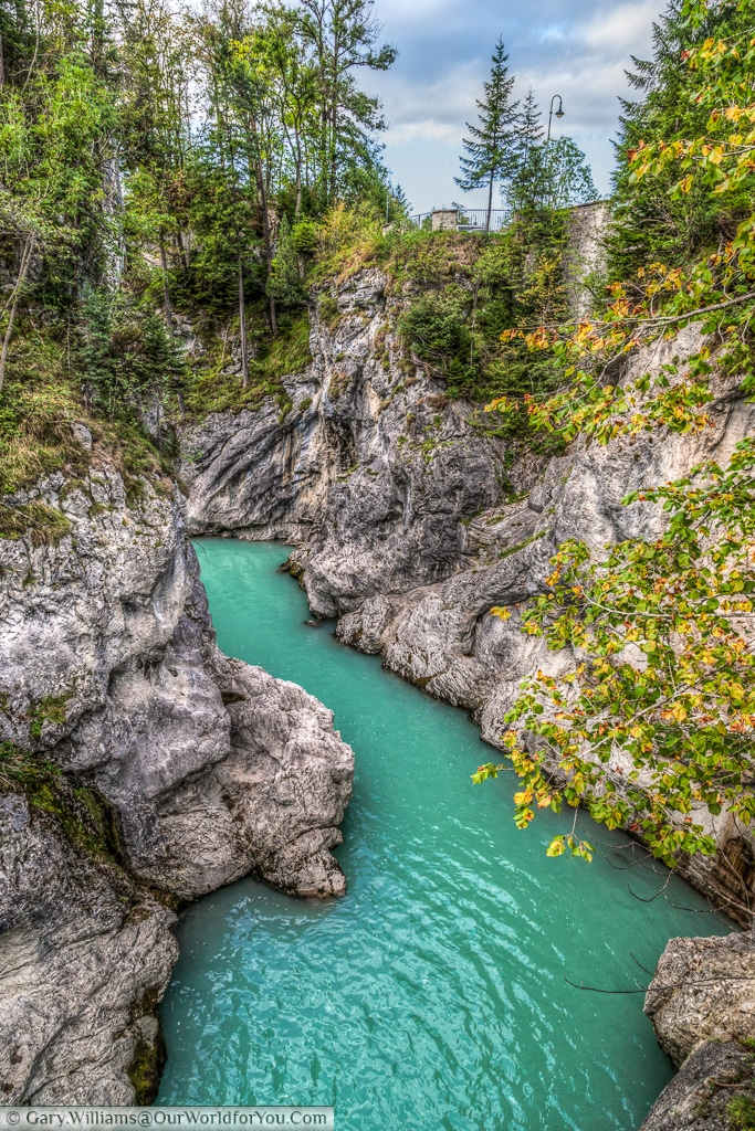 River Lech, after the falls, Füssen, Bavaria, Germany