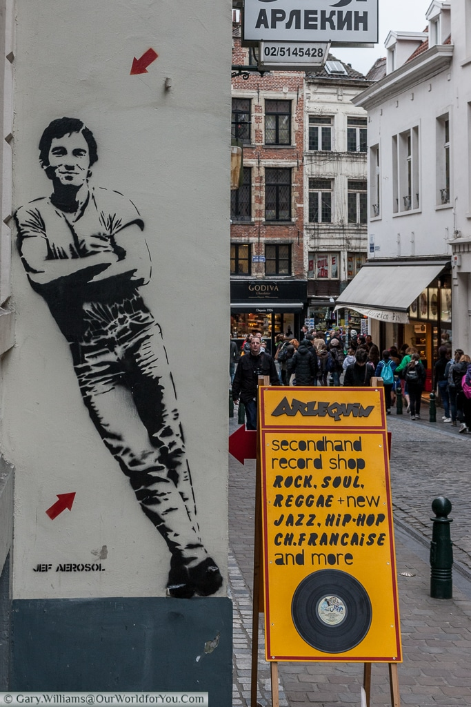 The Boss - by Jeff Aerosol, Brussels, Belgium