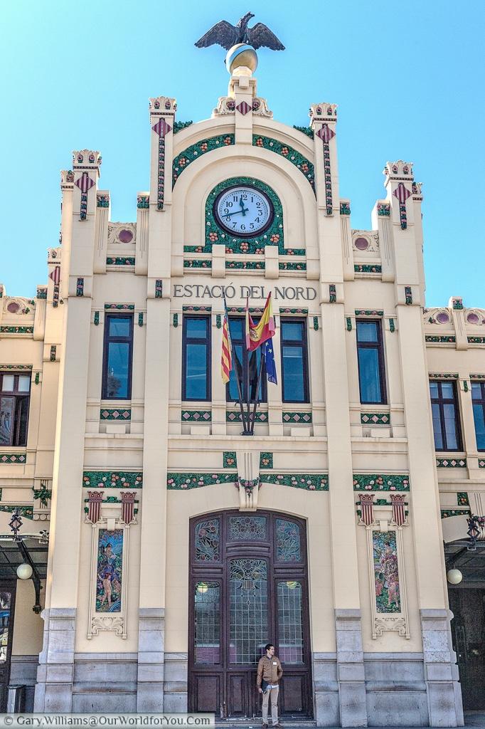 The grand Estacio del Nord or North station, Valencia, Spain
