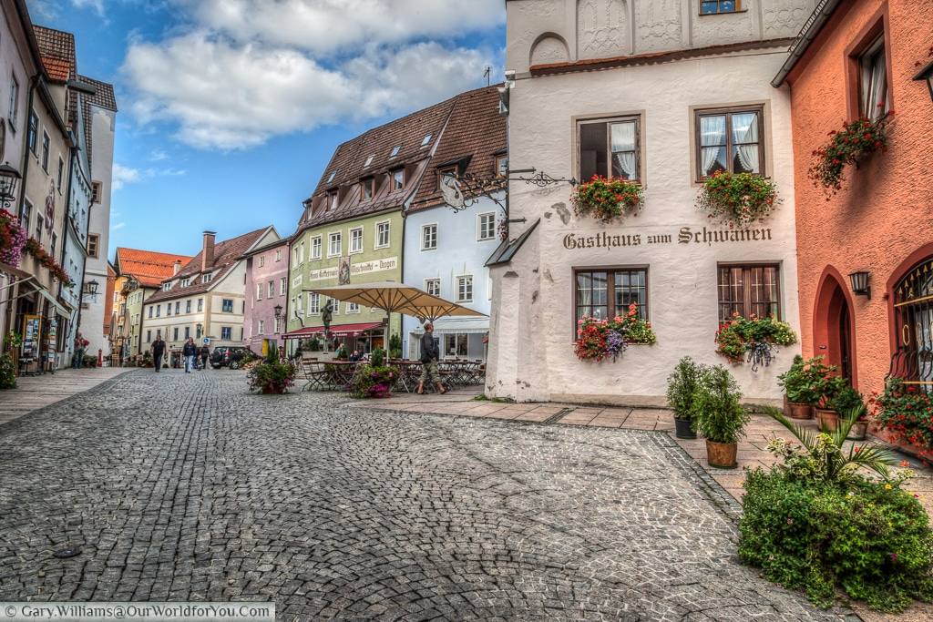 Brotmarkt in the old town, Füssen,Bavaria, Germany