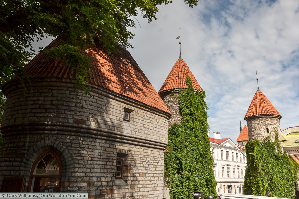 The Viru Gate in the old city walls, Tallinn, Estonia