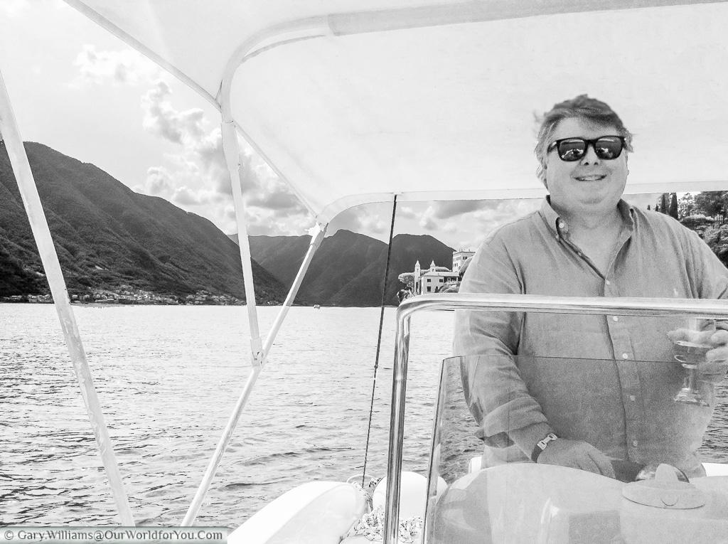 Gary on Lake Como, Italy