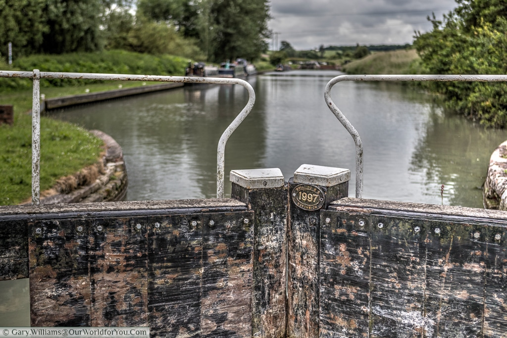 Lock gates on the Kennet & Avon Canal, England, United Kingdom