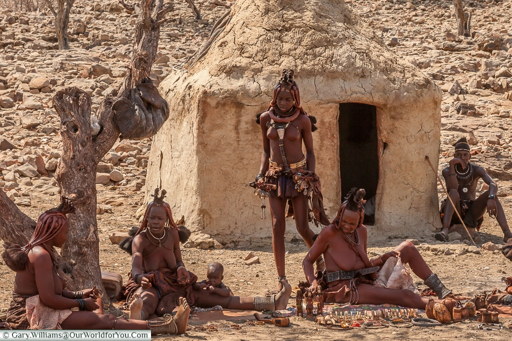 Gifts for sale from the Himba people, Damaraland, Namibia