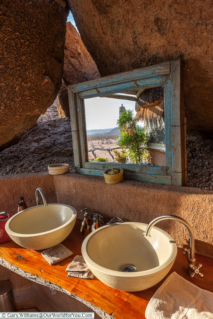 The bathroom at Camp Kipwe, Twyfelfontein, Namibia