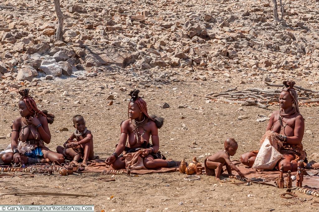 The market place of the Himba, Damaraland, Namibia