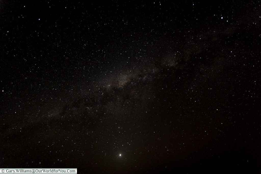 The night sky from the Sossus Dune Lodge, Sossusvlei, Namibia