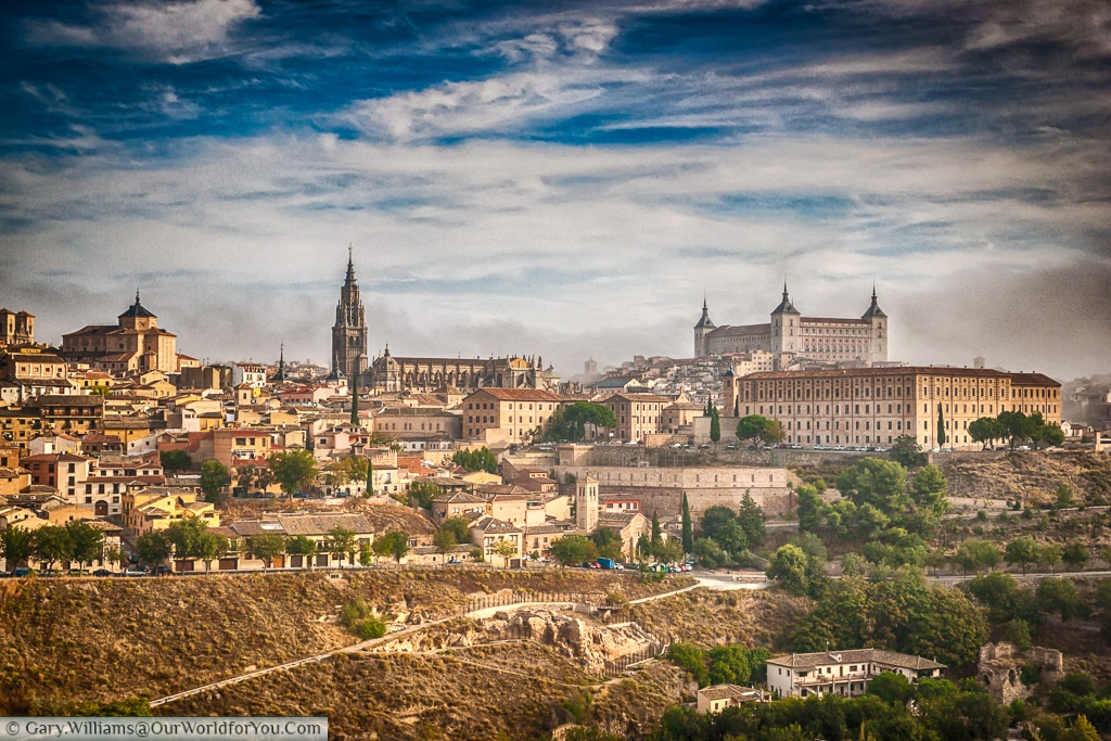 The view of Toledo, Spain