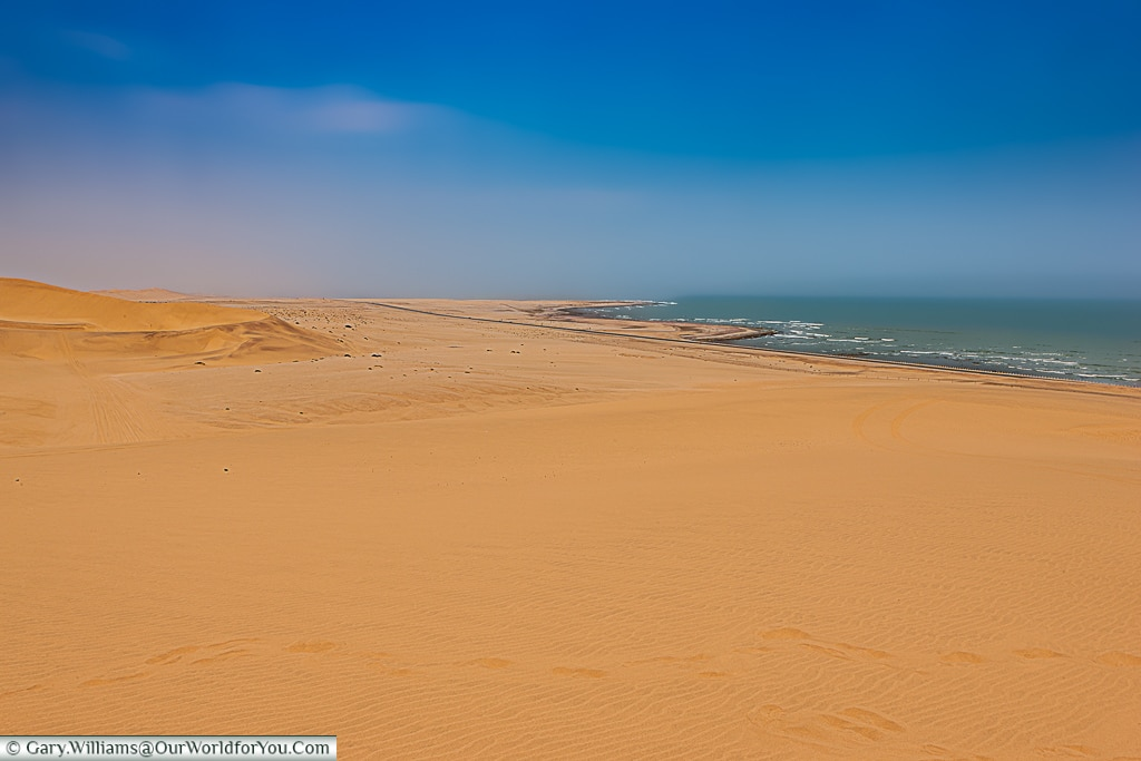 The view of Walvis Bay and the Atlantic Ocean,Living Desert Adventures, Walvis Bay, Swakopmund, Namibia