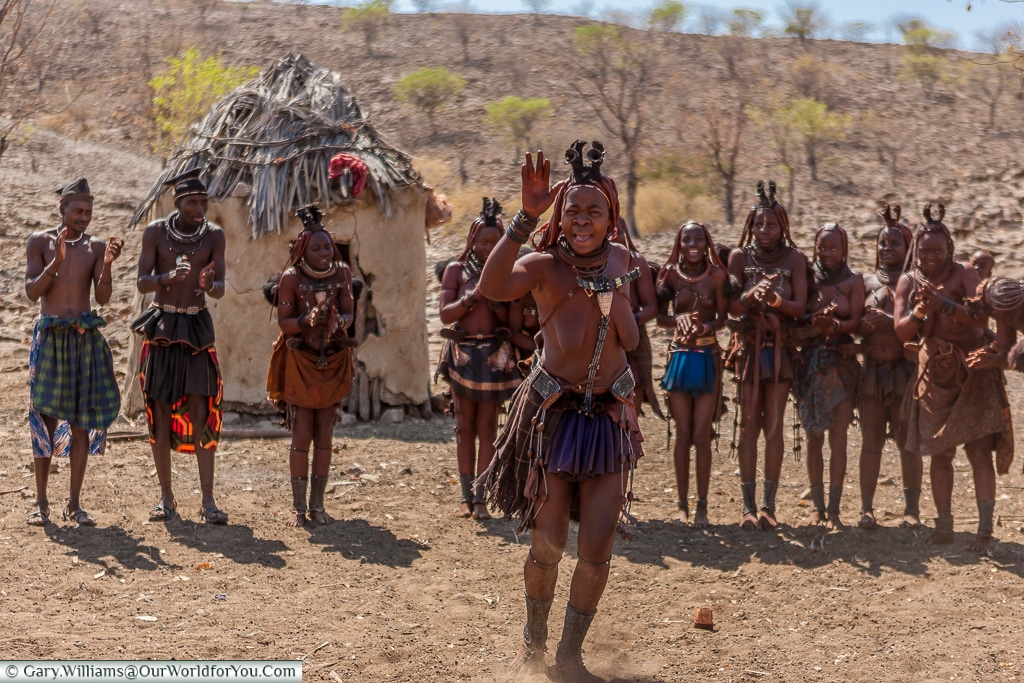Welcome dance performed by the Himba, Damaraland, Namibia