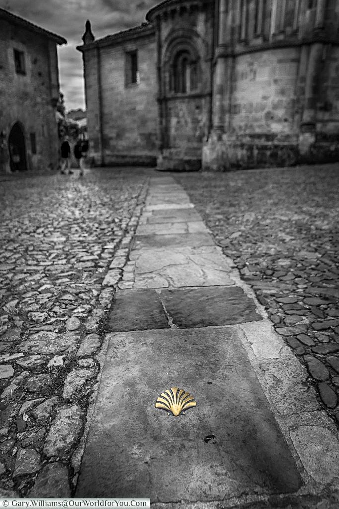Highlighting the way, Santillana del Mar, Cantabria, Spain