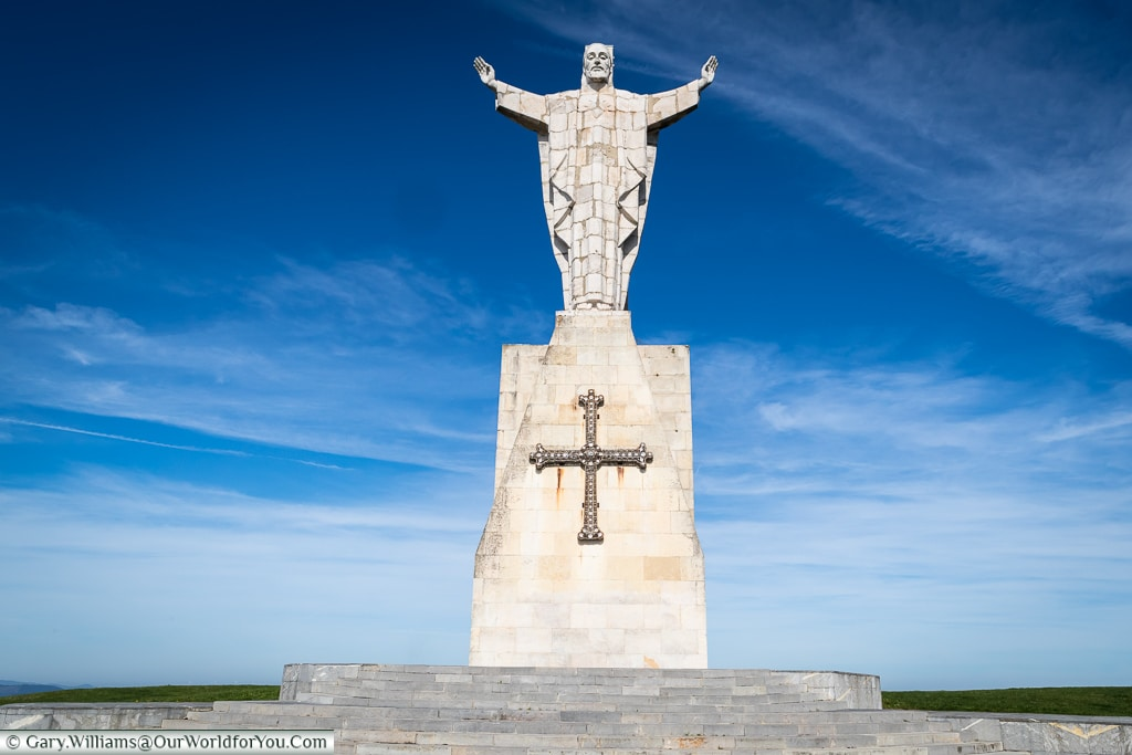 The Statue of Christ on Mount Naranco, Oviedo, Spain