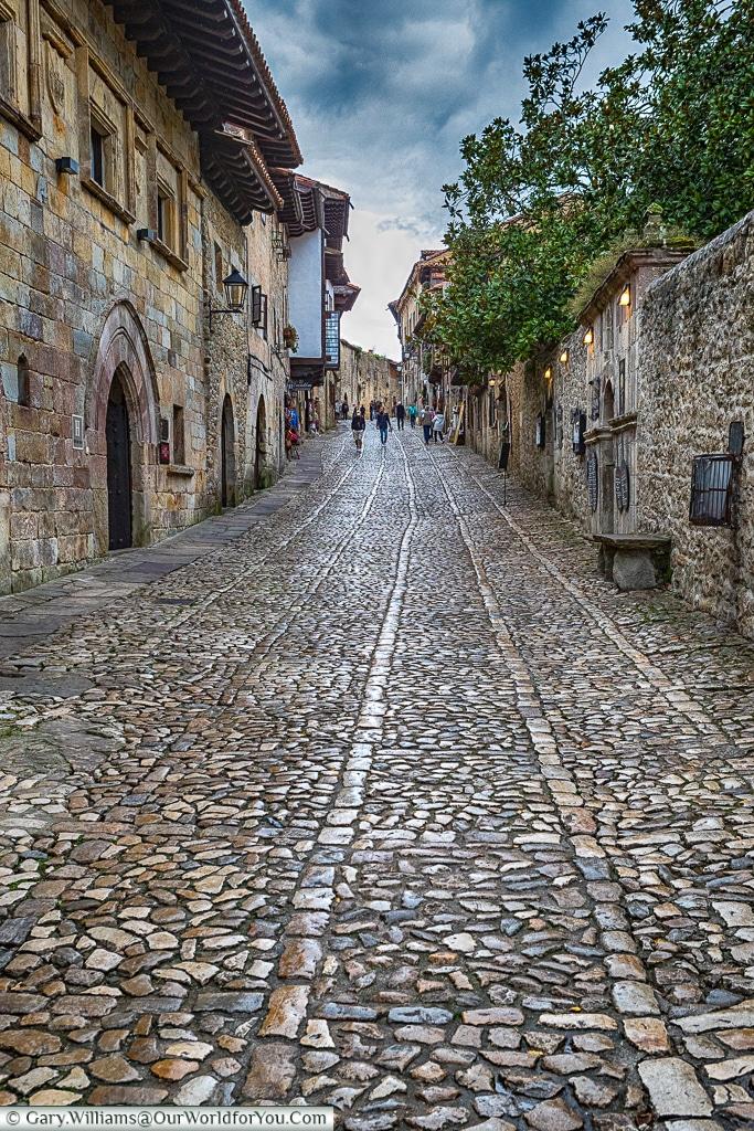 The cobbled lanes of Santillana del Mar, Cantabria, Spain