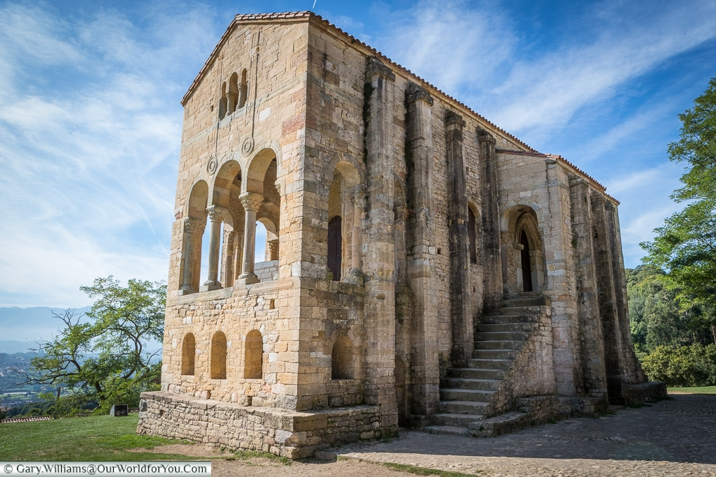 The entrance to Santa Maria del Naranco
