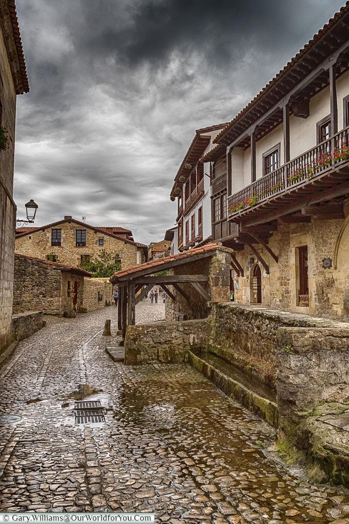 The watering hole, Santillana del Mar, Cantabria, Spain