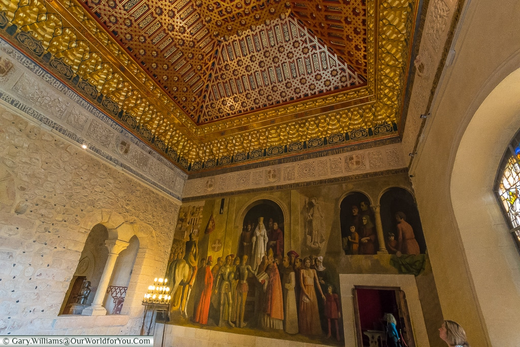 A mural at the end of the Galley Room, Alcázar, Segovia, Spain