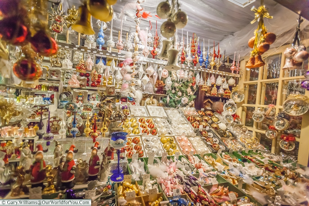Baubles & more at the Christmas Markets, Cologne, Germany