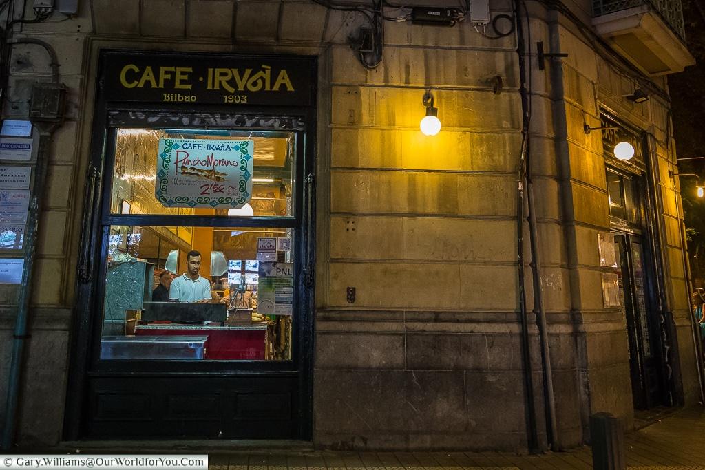 Café Iruña, Bilbao, Spain
