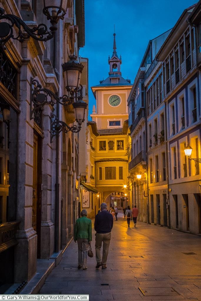 Calle Cimadevilla, Oviedo, Spain