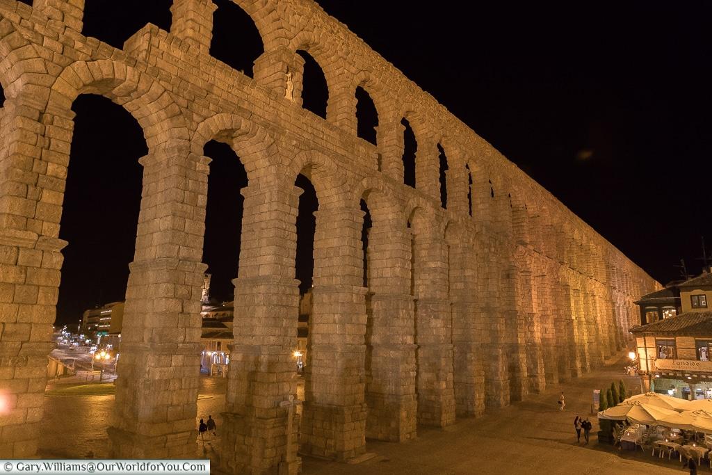 Imposing at night, Segovia, Spain