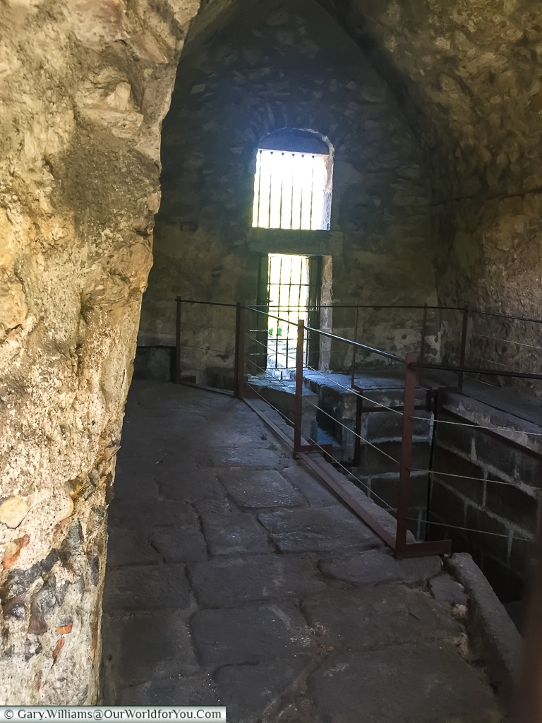 Inside the waterhouse, Segovia, Spain