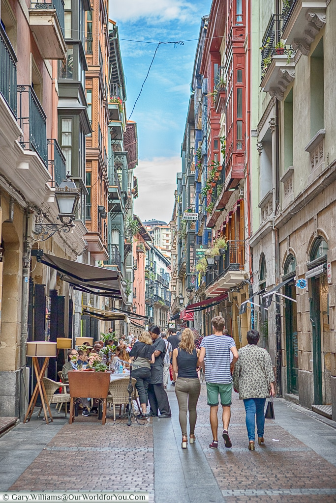 'Las Siete Calles' or the historical 'Seven Streets', Bilbao, Spain