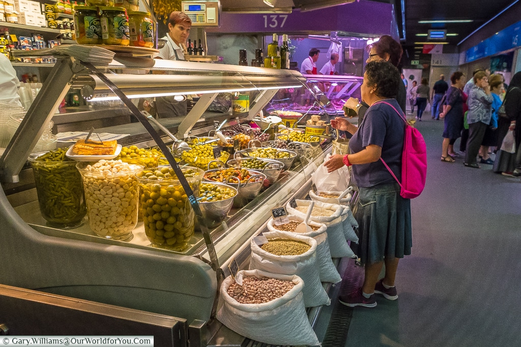 Shopping at the Mercado, Bilbao, Spain