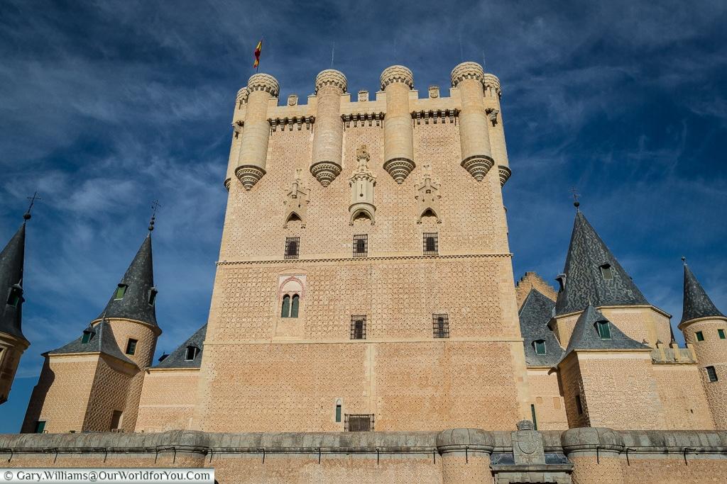 The Juan II tower of the Alcázar, Segovia, Spain