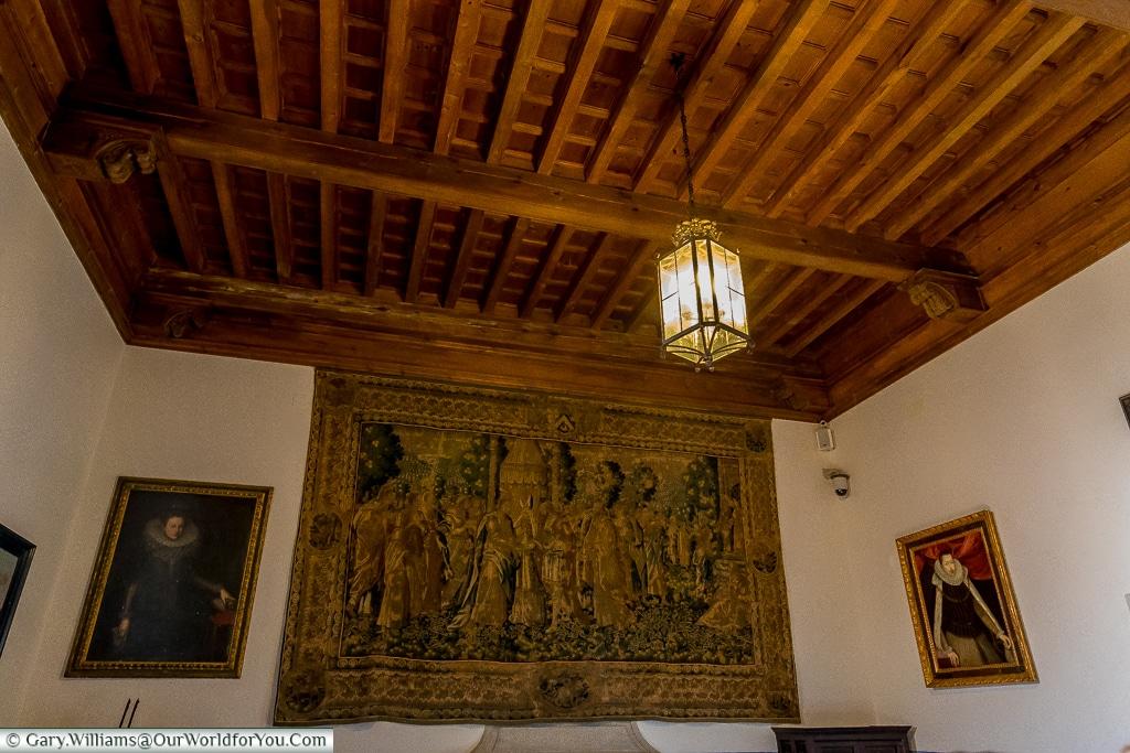 The 'Sala de la Chimenea' inside the Alcázar, Segovia, Spain