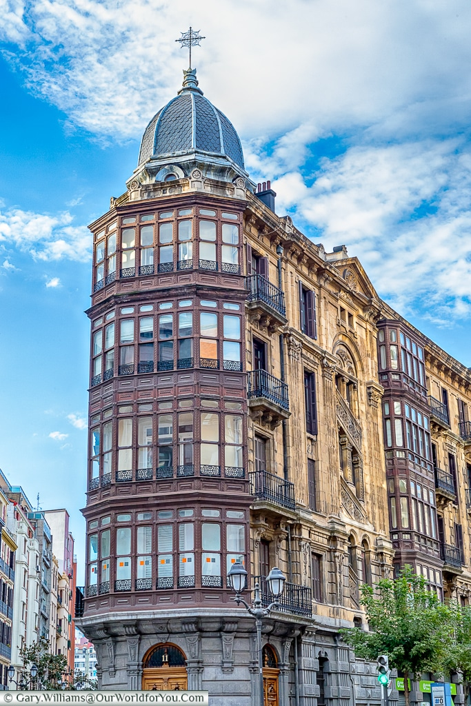 The architecture has to be admired in Bilbao, Spain