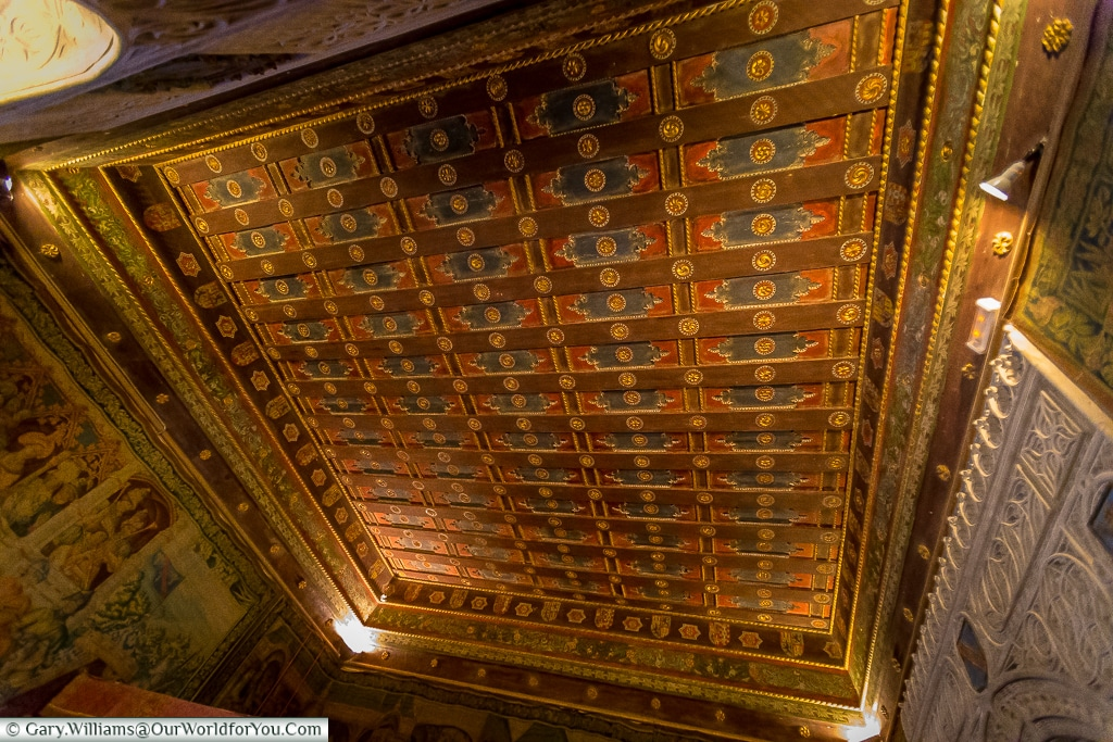 The ceiling of the royal bedroom, Alcázar, Segovia, Spain
