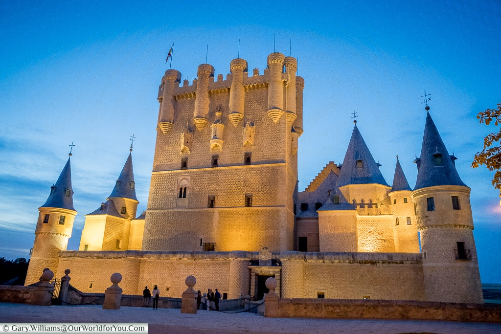 The destination of the flow - the Alcazar, Segovia, Spain