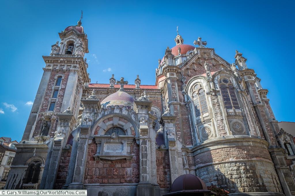 The side of the Church of San Juan el Real, Oviedo, Spain