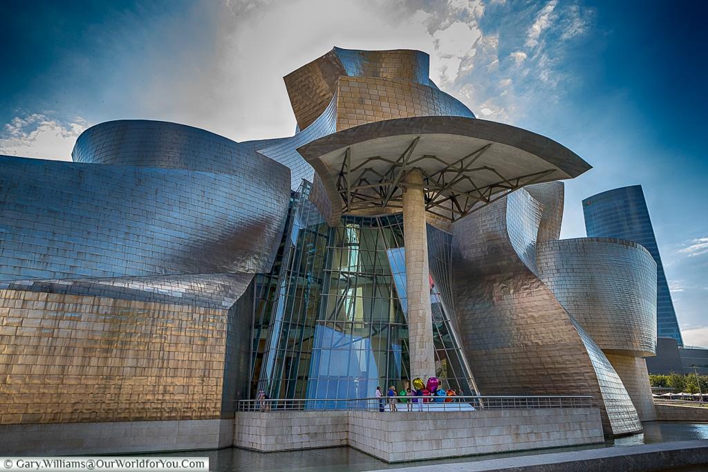 The stunning Guggenheim , Bilbao, Spain